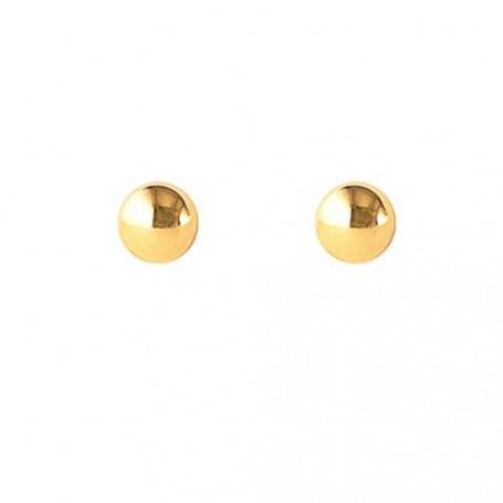 Pendientes Bola Oro 4 mm.