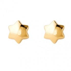 Pendientes Estrella Oro 6 mm.