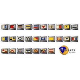 Flags Nautical Bracelet with Gold 18 ktes.