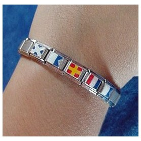 Flags Nautical Bracelet with Silver