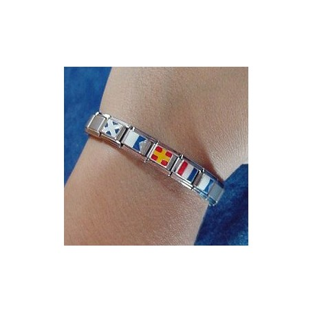 Flags Nautical Bracelet with Silver-25/26-www.monterojoyeros.com