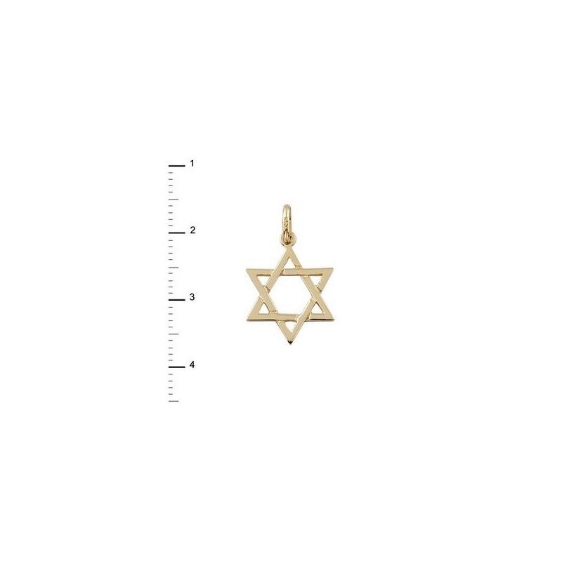 Colgante Oro Estrella David