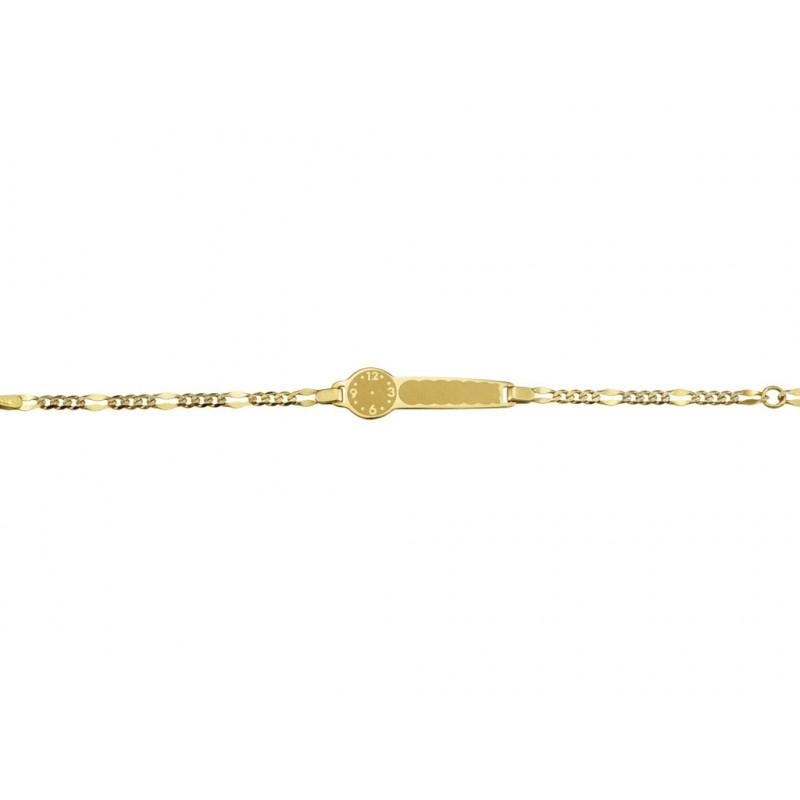 Pulsera Esclava Oro 14 cm.
